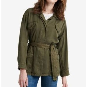 Lucky Brand Army Green Utility Jacket Size L